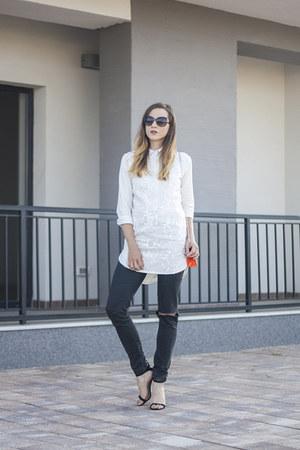 white zaful shirt