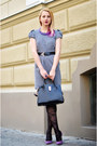 Heather-gray-houndstooth-dunnes-dress-black-h-m-tights-black-nowistyle-bag