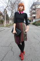 Jeffrey Campbell boots - local designer dress - thrifted sweater - vintage bag