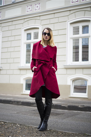 maroon Sheinside coat