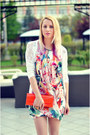 Salmon-floral-print-h-m-dress-orange-tiramisu-alle-fragole-bag