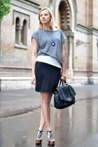 heather gray nowIStyle dress - black nowIStyle bag