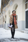 Black-new-look-dress-camel-topshop-coat-white-max-mara-bag