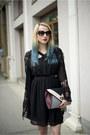 Black-mango-dress-black-kimono-sheinside-blazer-heather-gray-new-look-bag