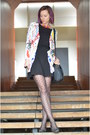 Gray-random-shoes-black-thrifted-dress-black-heart-print-charme-tights