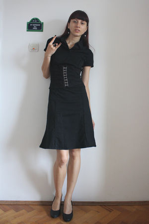 black Hot Topic dress - gray DGM shoes