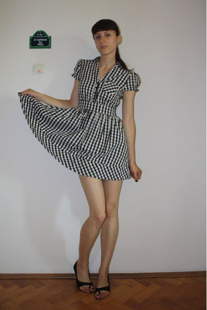 white H&M dress - black random brand shoes