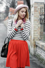 Black-h-m-boots-light-pink-h-m-hat-heather-gray-stripes-nowistyle-sweater