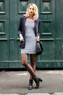 Black-cut-out-stradivarius-boots-navy-striped-pimkie-dress