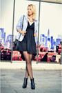 Black-ankle-h-m-boots-black-lbd-stradivarius-dress