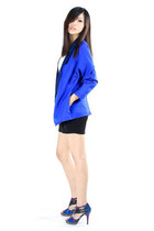 white Skinny Heels dress - blue Skinny Heels blazer