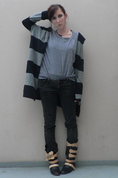 Zara top - aa sweater - Zara jeans - vivienne westwood boots