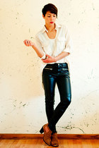 Aldo boots - Statement Boutique shirt - H&M pants