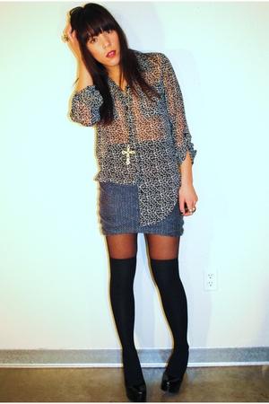 bycorpus blouse - Forever 21 skirt - Forever 21 shoes