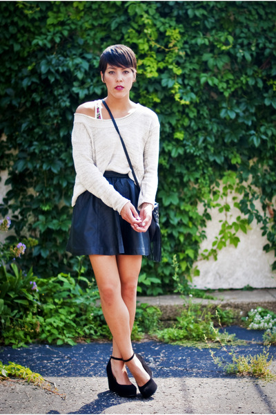 H&M skirt skirt - by corpus sweater - Jeffrey Campbell wedges