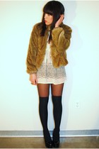 Urban Outfitters jacket - thrifted blouse - Forever 21 shoes