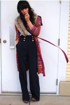 thrifted jacket - Maries Vintage scarf - Forever 21 pants