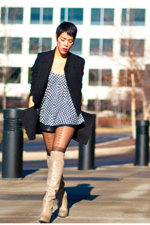 Romwecom coat - sam edelman boots - heart suspender Urban Outfitters tights