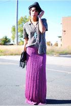 thrifted shirt - thrifted skirt