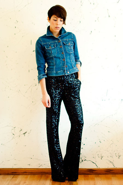 sequin Alice & Olivia pants