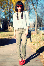 accessories - blouse - pants - shoes