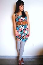 Forever 21 dress - Target socks - Forever 21 shoes - Forever 21 belt