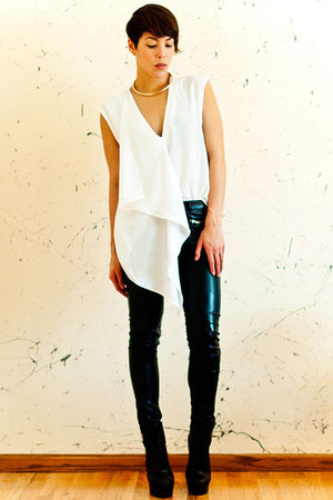 H&M pants - Topshop boots - asos top - H&M necklace