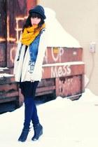 Forever 21 jeans - Forever 21 hat - H&M scarf - Sparkle & Fade skirt - DIY F21 v