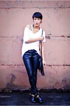 H&M pants - Dolce Vita boots - BDG t-shirt