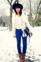 Forever 21 shoes - BDG jeans - Forever 21 hat - H&M bag - Forever 21 vest - ecot