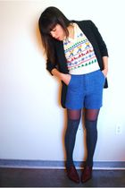 thrifted vest - Forever 21 blazer - vintage shorts - Vintage from Etsy seller Me