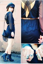 luluscom dress - H&M bag