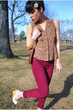 thrifted blouse - thrifted shoes - Forever 21 pants - Everyday People Clothing E
