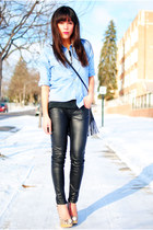 Forever 21 pants - Steve Madden shoes - Urban Outfitters shirt - H&M bag