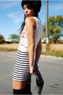 Thrifted-hat-thrifted-vest-h-m-dress-h-m-bag-f21-shoes
