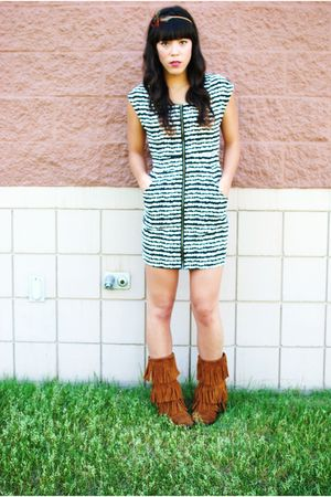 Forever 21 dress - Minnetonka boots