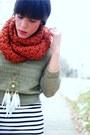 Forever-21-scarf-sweater-h-m-dress-forever-21-leggings-steve-madden-boot