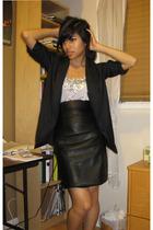 blazer - blouse - skirt