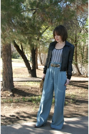 French Connection pants - vintage jacket - vintage belt - Marc by Marc Jacobs sh