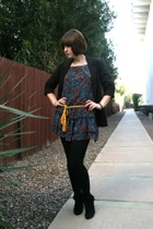 H&M dress - jacket - go jane boots