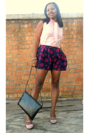 hot pink sveltfashion shorts - bubble gum peep toe Kenneth Cole heels
