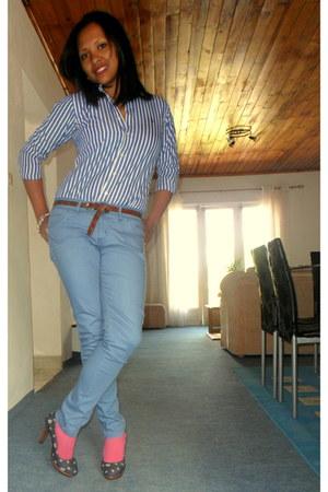 striped Ralph Lauren shirt - NafNaf pants
