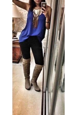 boots - Accessorize shirt - BCBG tights