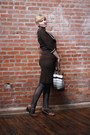 Brown-jonathan-logan-dress-black-merona-tights-tan-softspots-wedges
