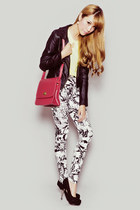 black Motel Rocks pants - black Sheinside jacket - light yellow GOWIGASA shirt