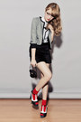 Heather-gray-just-g-jacket-heather-gray-just-g-shirt-black-just-g-skirt