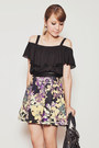 Black-balenciaga-bag-black-ianywear-top-black-shopjoa-skirt