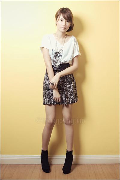 black shoes - black Zara skirt - white Greenhills tiangge shirt - silver Forever