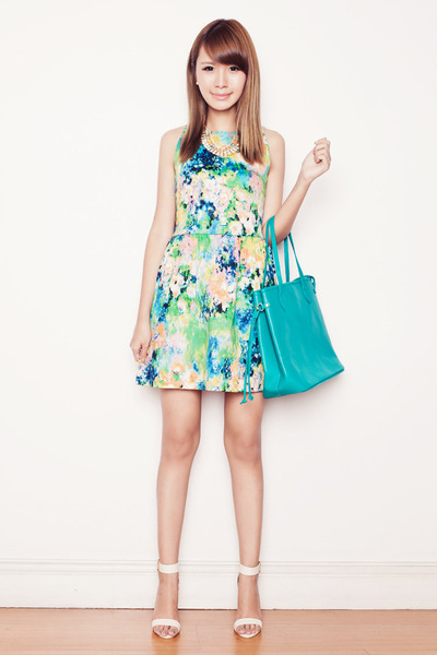 turquoise blue Fab Avenue bag - light blue chacey love dress