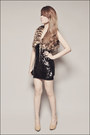 Black-forever-21-top-brown-forever-21-vest-tan-forever-21-shoes-gold-forev